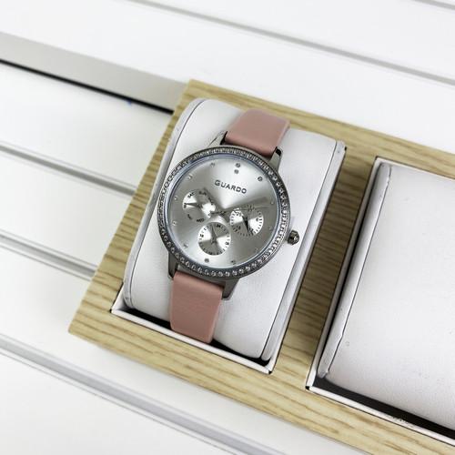 Женские часы Guardo B01340(1)-2 Pink-Silver-Whute