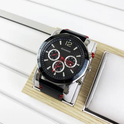 Мужские часы Guardo 11253-1 Black-Silver, фото 2