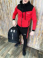 Спортивный костюм Under Armour Андер Армор красный мужской трикотажный весенний осенний качество Люкс