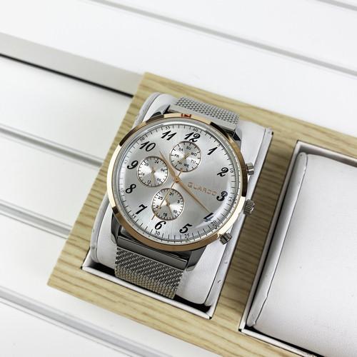 Чоловічий годинник Guardo 012238-5 Silver - Cuprum - White