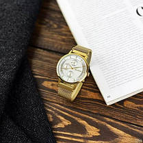Мужские часы Guardo 012015-5 Gold-White, фото 2