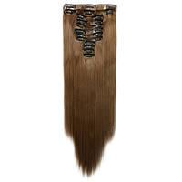Искусственные волосы на заколках. Цвет #10 Русый. Набор прядей, фото 1