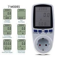 Цифровий вимірювач потужності (энергометр) з програмою розрахунку електроенергії Intertek Cat 2