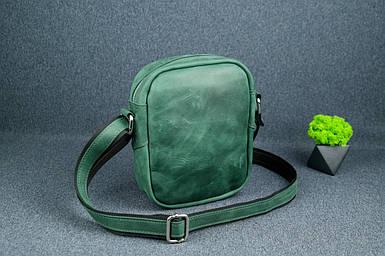 """Мужская сумка """"Модель №64"""", Винтажная кожа, цвет Зеленый"""