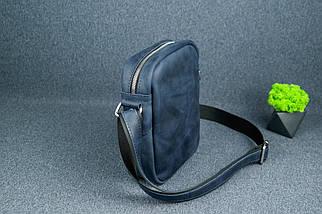 """Мужская сумка """"Модель №64"""", Винтажная кожа, цвет Синий, фото 3"""