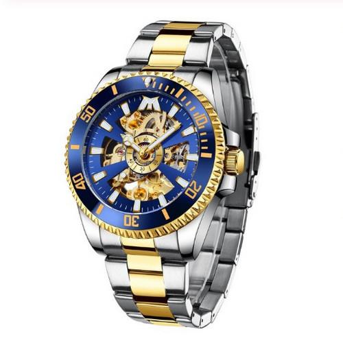 Мужские часы Chronte Robert Silver-Blue-Gold
