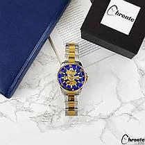 Мужские часы Chronte Robert Silver-Blue-Gold, фото 2