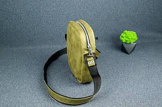 """Чоловіча сумка """"Модель №64"""", Вінтажна шкіра, колір Синій, фото 3"""