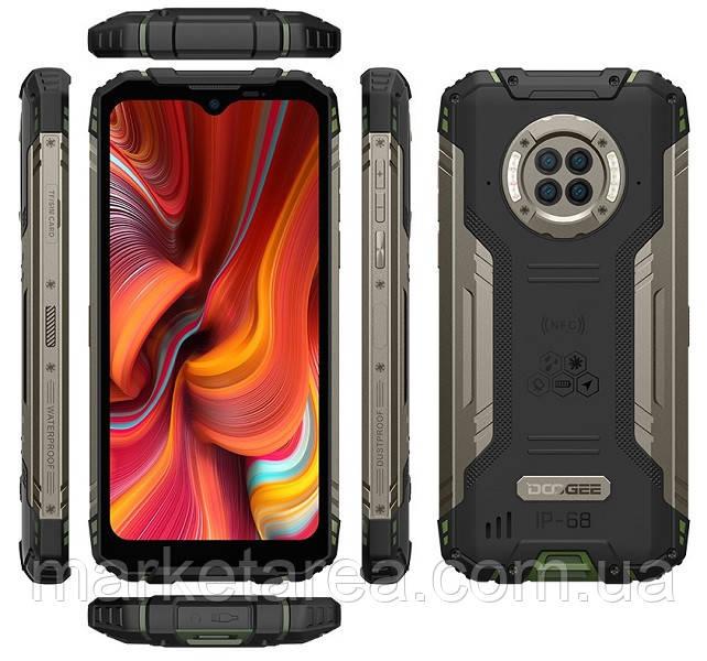 Смартфон зеленый защищенный с мощной батареей Doogee S96 Pro green 8/128 гб NFC Global (Гарантия 12 мес)
