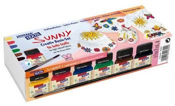 Набор красок для светлой ткани Kreul Javana 6цв. по 20мл Sunny KR-90600