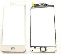 Стекло дисплея iPhone 6 Plus (5.5) для переклейки с рамкой и OCA White