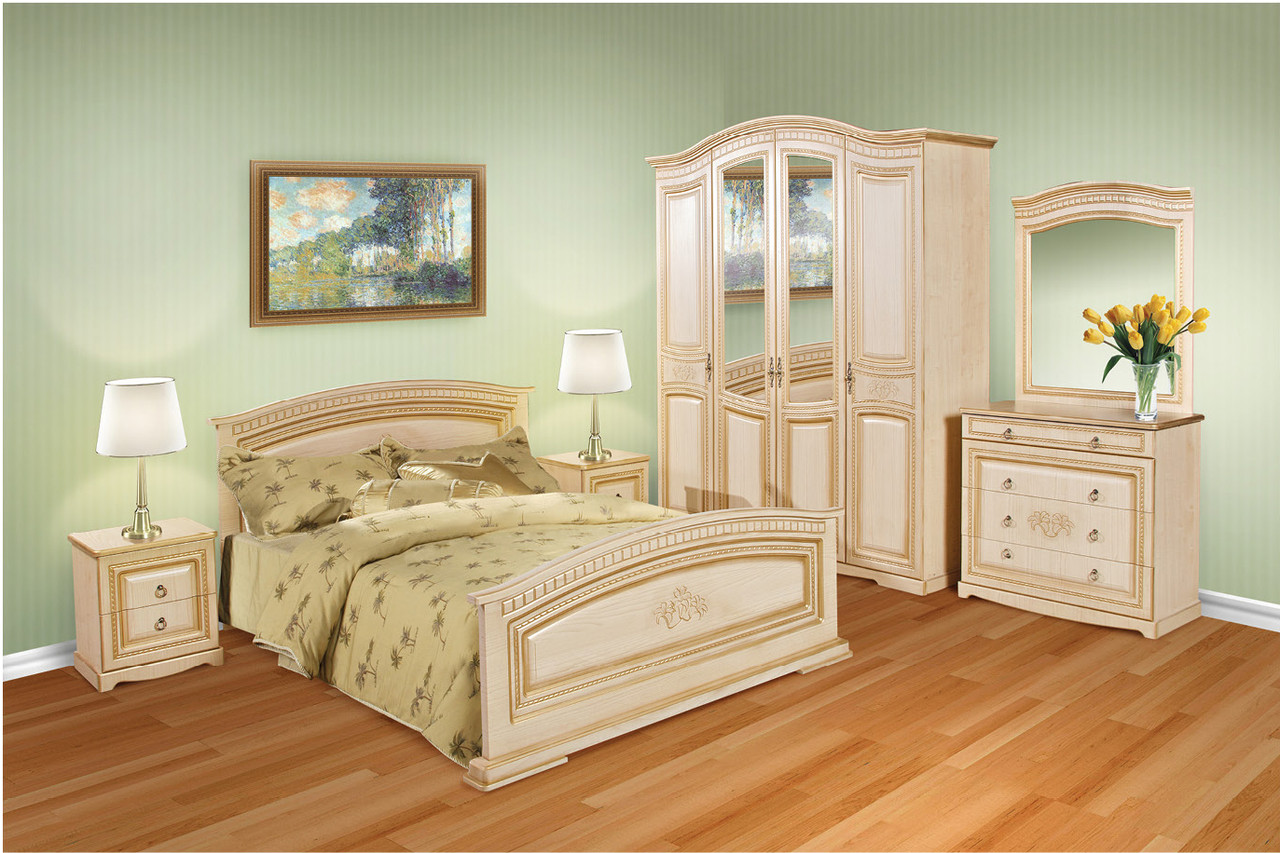"Спальня ""Верона"" клён (шкаф 4-х дверный)"