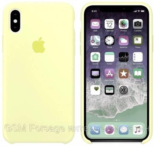 Чехол (Silicone Case) для iPhone XS Max Mellow Yellow