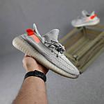 Чоловічі кросівки Adidas Yeezy Boost 350 (сірі з помаранчевим) 10389 рефлективні повсякденні кроси, фото 2