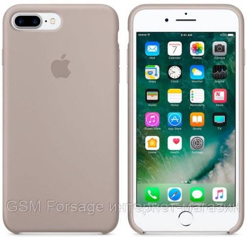 Чохол Silicone Case для iPhone 7 Plus, iPhone 8 Plus OR Pebble
