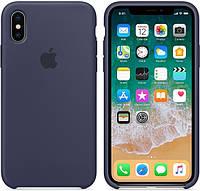 Чехол Silicone Case для iPhone X, iPhone XS OR Midnight Blue