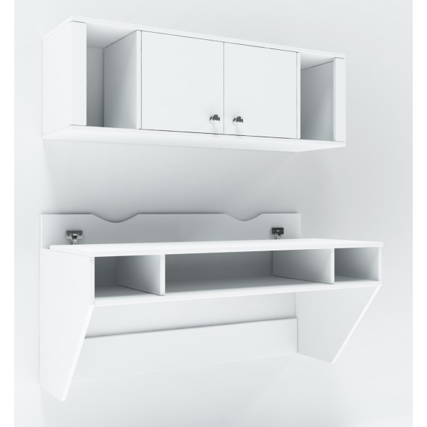 Навесной компьютерный стол  Comfy Home AirTable-II Kit WT Белый