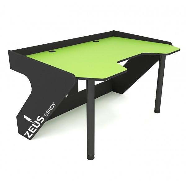 Геймерский эргономичный стол ZEUS GEROY, зелено-черный