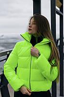 Куртка женская демисезонная Bubble до 0*С желтая | Куртка весенняя осенняя Пуховик женский ЛЮКС качества