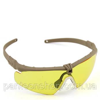 Окуляри захисні V6 tan-yellow [CROSS], фото 2