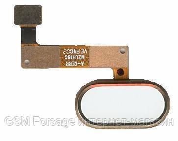 Шлейф Meizu M5 Note центральная кнопка (Home) Gold