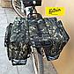 Велосумка-штаны на багажник. Велосумка на багажник. Сумка на багажник велосипеда. Цвет зеленый хаки, фото 3