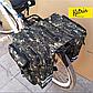 Велосумка-штаны на багажник. Велосумка на багажник. Сумка на багажник велосипеда. Цвет зеленый хаки, фото 4