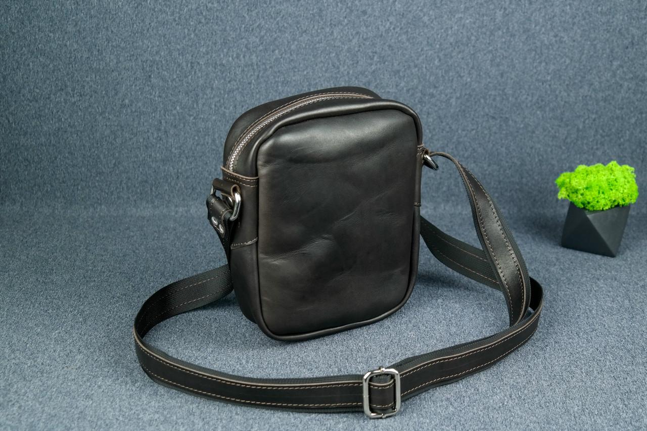 """Чоловіча сумка """"Модель №64"""", Шкіра Італійський краст, колір Кава"""
