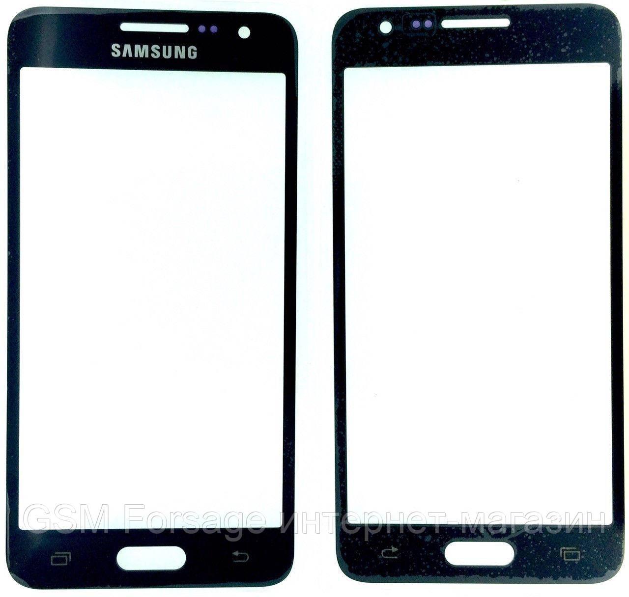 Стекло дисплея Samsung Galaxy A3 SM-A300F Black (для переклейки)