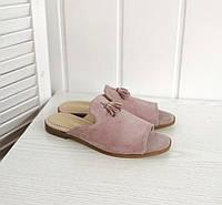Замшевые мюли розового цвета, фото 1
