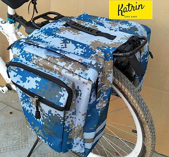 Велосумка-штаны на багажник. Велосумка на багажник. Сумка на багажник велосипеда. Цвет синий хаки
