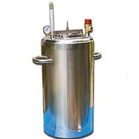 Автоклав из нержавейки ЛЮКС 14 банок, газовый. Для консервирования тушенки.