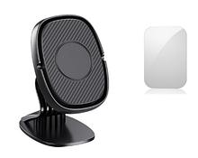 Магнітний тримач на торпеду для телефону в авто Lovebayс металевою пластиною в комплекті