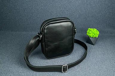 """Мужская сумка """"Модель №64"""", Кожа с лицевым покрытием, цвет Черный"""