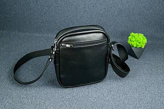 """Чоловіча сумка """"Модель №64"""", Шкіра з лицьовим покриттям, колір Чорний, фото 3"""