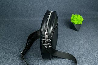 """Чоловіча сумка """"Модель №64"""", Шкіра з лицьовим покриттям, колір Чорний, фото 2"""