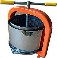 Пресс для сока 15 литров ЛАН винтовой, механический Соковыжималка для яблок, винограда, фруктов