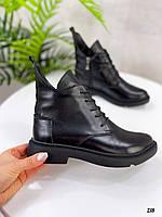 Жіночі короткі чоботи натуральна шкіра, фото 1