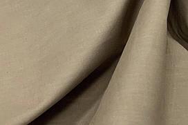 Сатин-твил однотонный коричневый