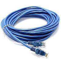 Патч-корд LAN 15м CAT 5e UTP Сетевой лан кабель витая пара для интернета и роутера Ethernet, фото 1