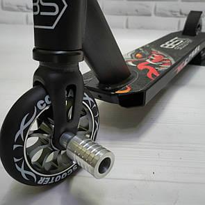 Акция! Самокат трюковый Best Scooter для трюков колесо 110 мм Компрессия HIC  с пегами.