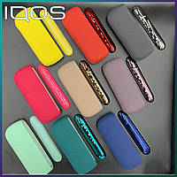 Силиконовый чехол + боковая панель для IQOS 3 DUO / Айкос 3 дуо Фисташковый