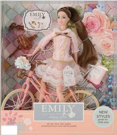 Кукла «Emily» аксессуары велосипед, фото 2
