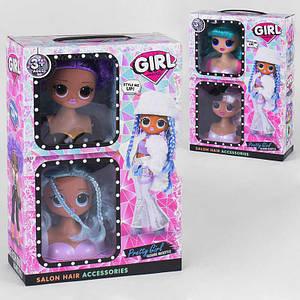 Набор для причесок Salon hair LK 1069, Кукла-головас волосами для причесок2 шт. в коробке от 3 лет