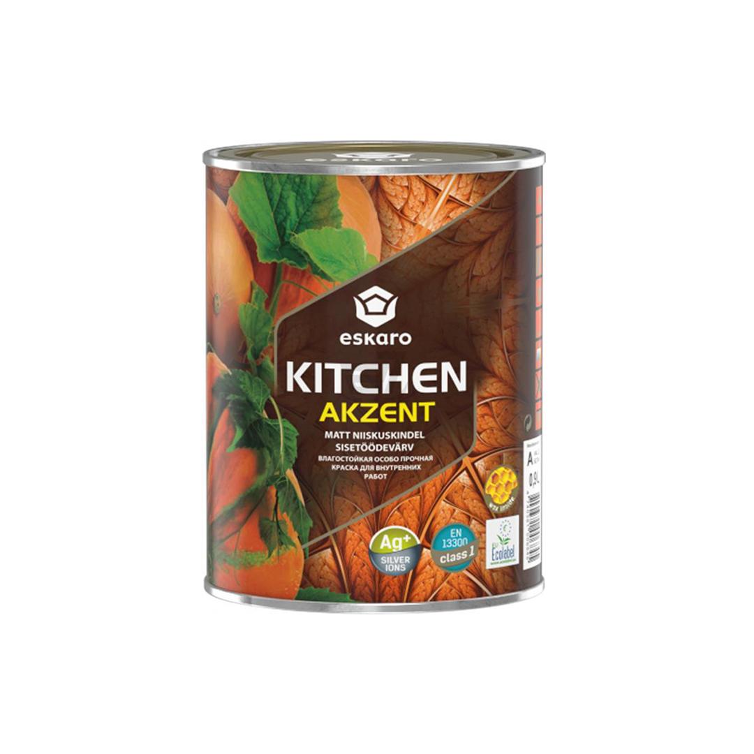 Влагостойкая краска для стен и потолка Eskaro Akzent Kitchen 0,9л База TR (Эскаро Акцент Китчен)