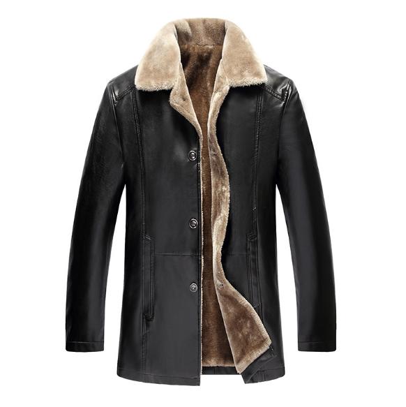 Мужская кожаная куртка. Модель 18128-н