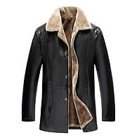 Мужская кожаная куртка. Модель 18128-н, фото 2