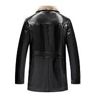 Мужская кожаная куртка. Модель 18128-н, фото 3