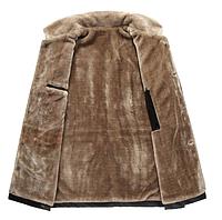 Мужская кожаная куртка. Модель 18128-н, фото 4
