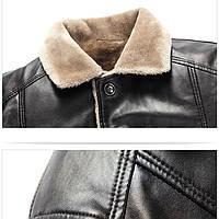 Мужская кожаная куртка. Модель 18128-н, фото 5